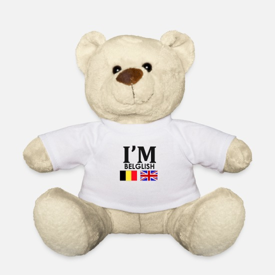 Belgian Teddy Bear Toys - Belgian + English = - Teddy Bear white