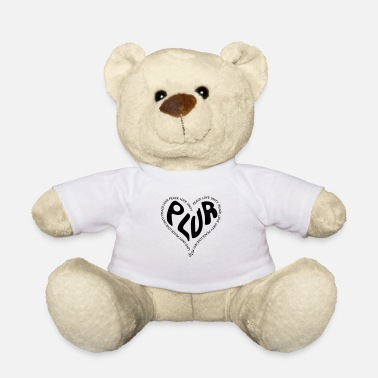 PLUR Peace Love Unity & Respect ravers mantra in - Teddybeer