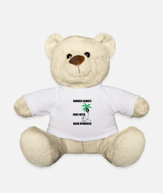 Travel Teddy Bear Toys - Summer summer - Teddy Bear white