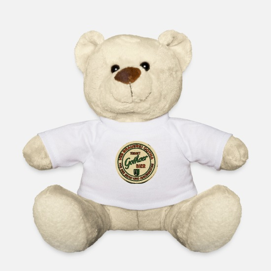 Brewery Teddy Bear Toys - VEB Brewery Gotha - Teddy Bear white