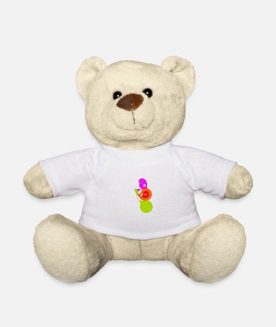 Pattern Teddy Bear Toys - Design in abstract form - Teddy Bear white