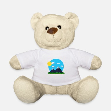 Parks-and-recreation Flat Design Outdoor Mountain Forrest Park Gift - Teddy Bear