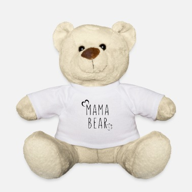 Pregnant Bear mother father kid mom funny saying gift - Teddy Bear