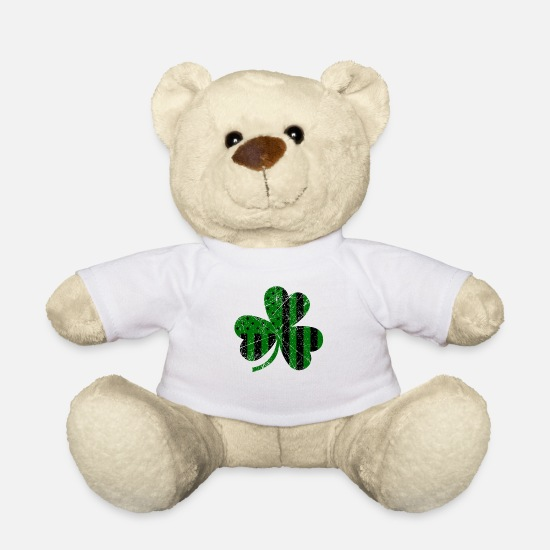 American Football Teddy Bear Toys - American Flag Clover - Teddy Bear white