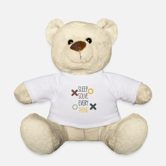 Sleep Teddy Bear Toys - Sleep solves everything - Teddy Bear white