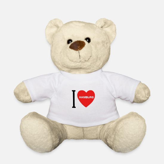Birthday Teddy Bear Toys - I LOVE Hamburg - Los Ds - Teddy Bear white
