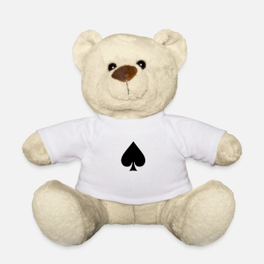 Pik Spades Black Cards Poker Mafia Icon - Teddy Bear
