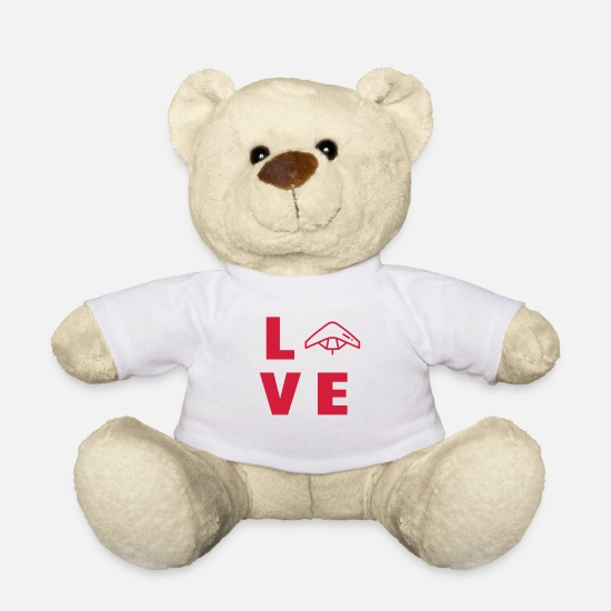 Play Teddy Bear Toys - Hang gliding - Drachenfliegen - Sport - Deltaplane - Teddy Bear white