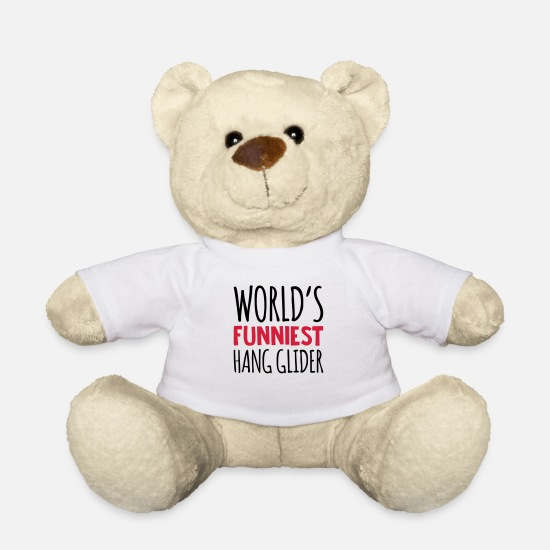 Hang Teddy Bear Toys - worlds funniest hang glider - Teddy Bear white
