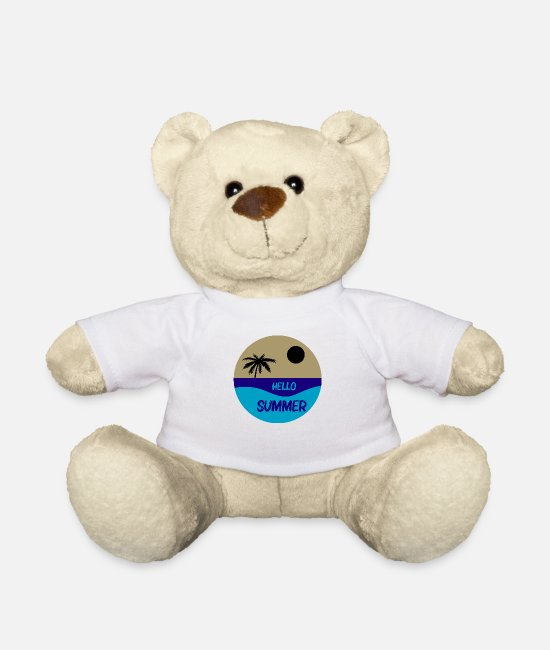 Travel Bug Teddy Bear Toys - Summer summer - Teddy Bear white