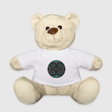 Celtic spiral gray / turquoise - Teddy Bear