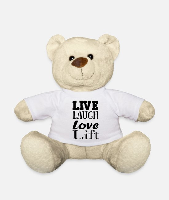 Solingen Teddy Bear Toys - Live,laugh,love, lift - Teddy Bear white