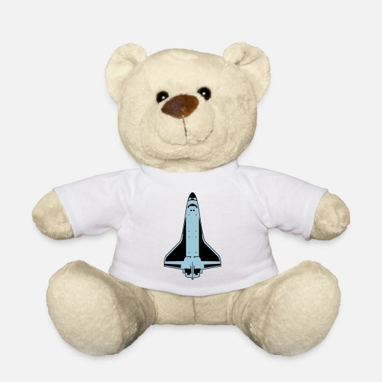 Space Kuscheltiere - Space Shuttle - Teddybär Weiß