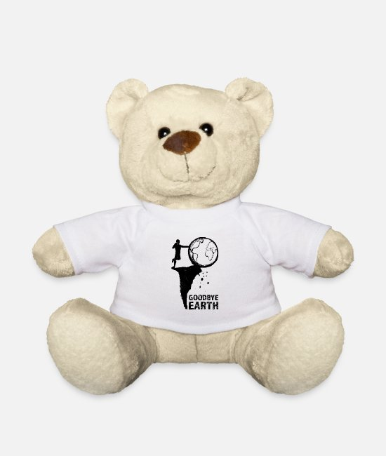 Nature Teddy Bear Toys - Goodbye Earth - Teddy Bear white