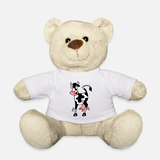 Kö Teddy Bear Toys - Cow - Teddy Bear white