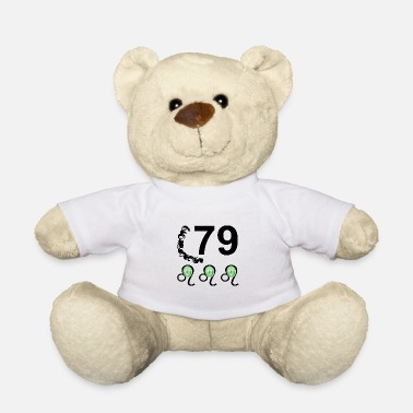Lucky Number 79 years lucky number Happy birthday - Teddy Bear