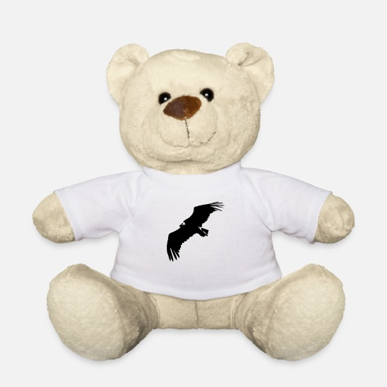 Eagle Teddy Bear Toys - VULTURE IN FLIGHT - Teddy Bear white