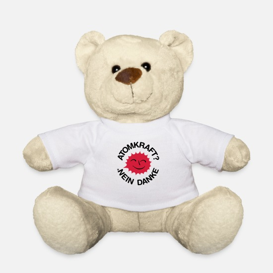Chernobyl Teddy Bear Toys - Nuclear power? No thank you! Logo smiling sun - Teddy Bear white
