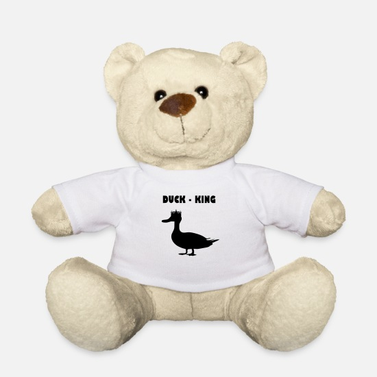 Feather Teddy Bear Toys - Duck - King - Teddy Bear white