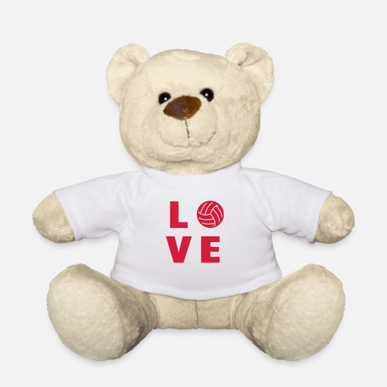 Play Teddy Bear Toys - Volleyball - Volley Ball - Volley-Ball - Sport - Teddy Bear white