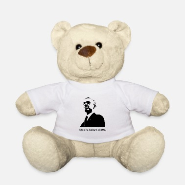 Obama Back to Barack Obama! Print schwarz - Teddybär