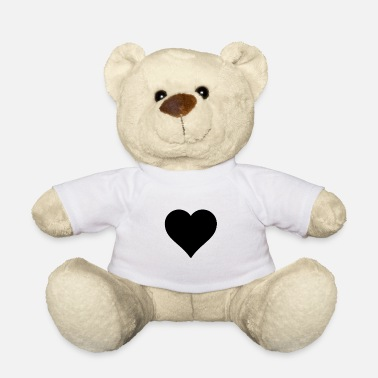 Black Heart Heart Black - Heart - black - - Teddy Bear