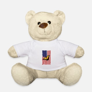 Peacock Butterfly America Flag Independence Day - Teddy Bear
