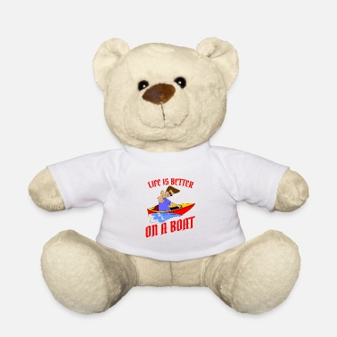 Amuse Life is better on a boat, gift, gift idea - Teddy Bear