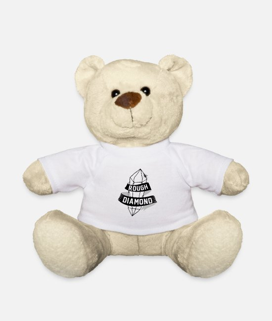 Play Teddy Bear Toys - Rough diamond in black and white - Teddy Bear white