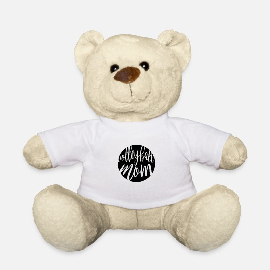 Love Teddy Bear Toys - Volleyball Mom Sports Gift - Teddy Bear white