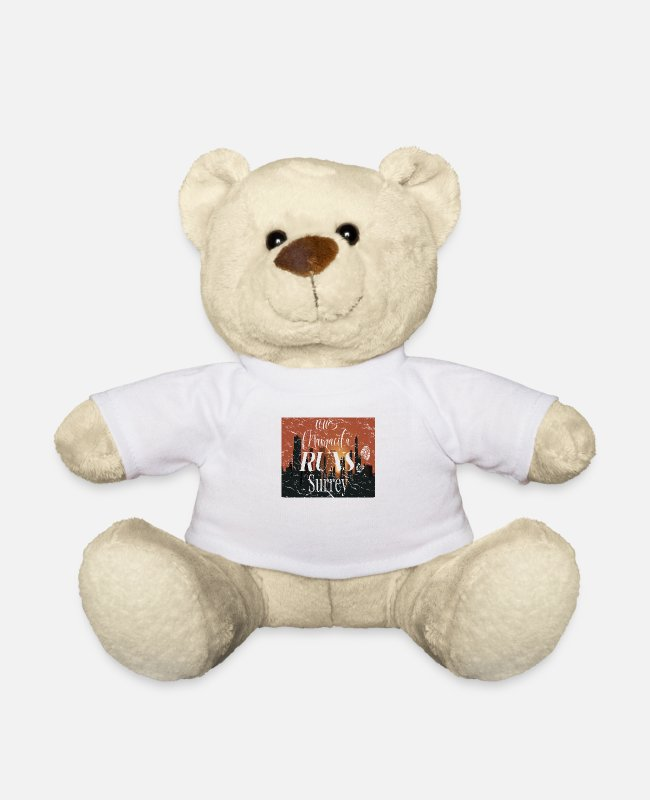 Runner Teddy Bear Toys - This Mamacita Runs Surrey Tee for Joggers and Runn - Teddy Bear white