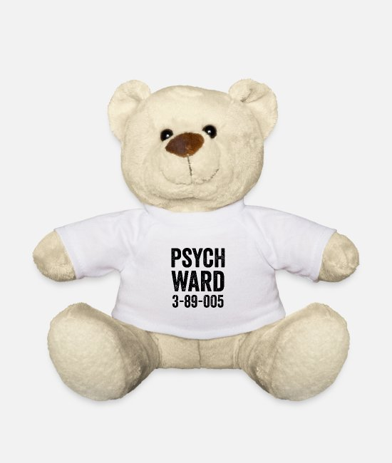 Party Knuffeldieren - Psych Ward Jail Outfit - Teddybeer wit