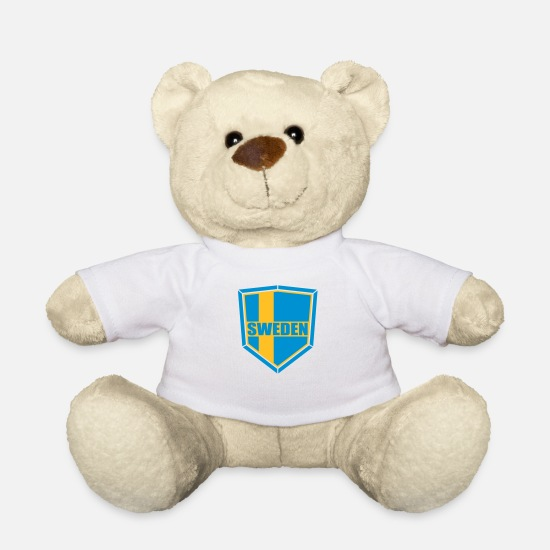 Turtle Teddy Bear Toys - sweden sweden text shield banner coat of arms torch - Teddy Bear white