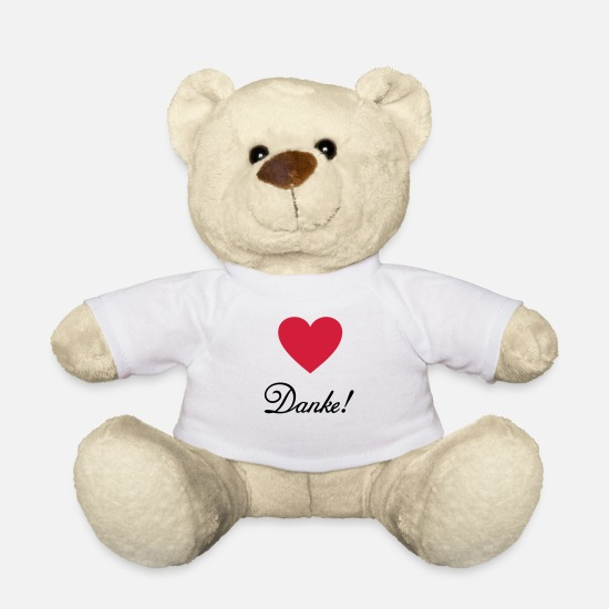 Mother Teddy Bear Toys - Thank you! Thanks thank recognition praise - Teddy Bear white