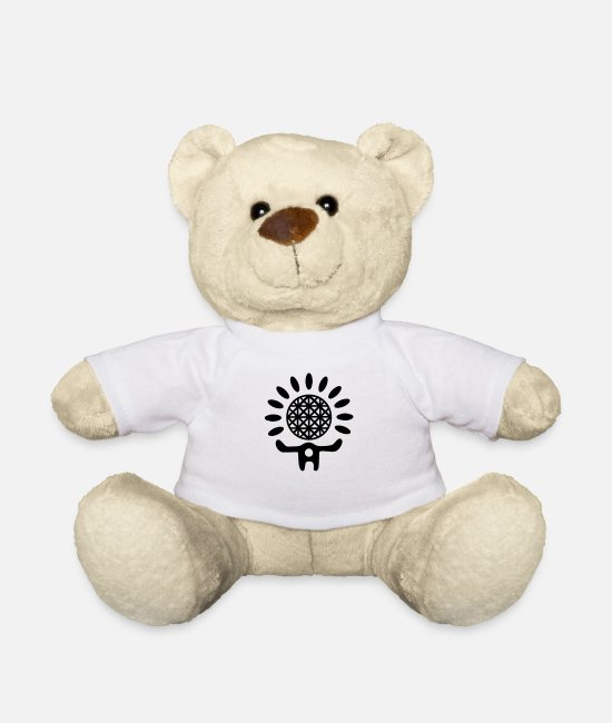 Heat Teddy Bear Toys - Sun Symbol - Teddy Bear white