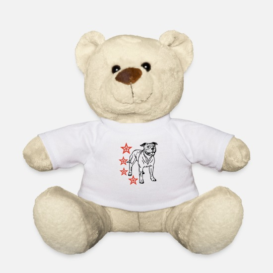 Heart Teddy Bear Toys - americanstaffy1d - Teddy Bear white
