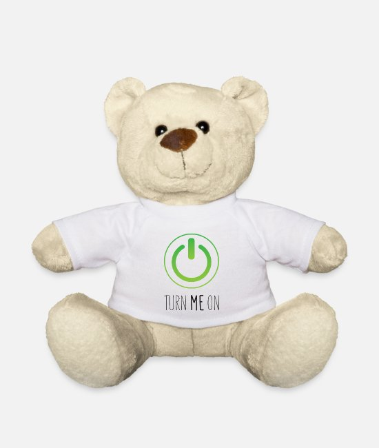 Turn Table Teddy Bear Toys - Turn Me On - Teddy Bear white