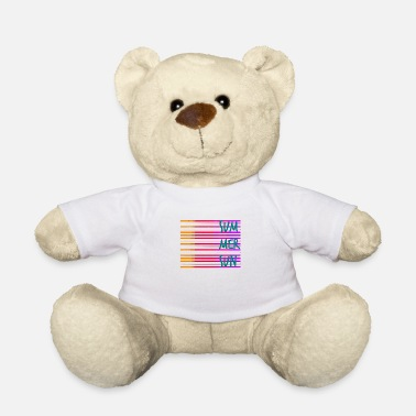 Stylish Summer / summer / line / colorful / trend / sayings - Teddy Bear