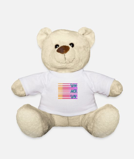 Line Teddy Bear Toys - Summer / summer / line / colorful / trend / sayings - Teddy Bear white