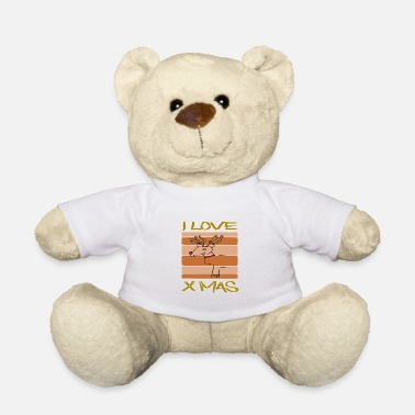 Bino92 I Love X Mas / Reindeer / Sayings / Trend - Teddy Bear