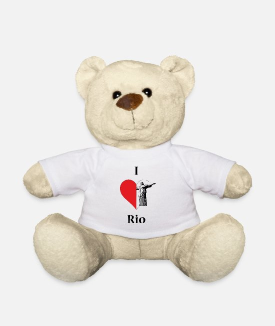 Heart Teddy Bear Toys - I love Rio - Teddy Bear white