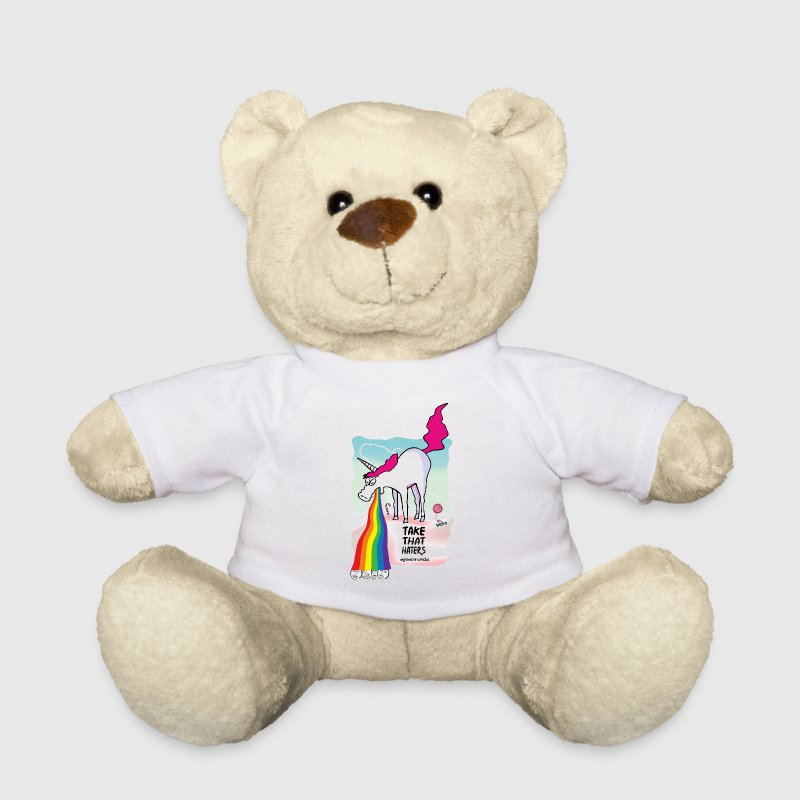 Unicorn throwing up rainbow - Teddy Bear