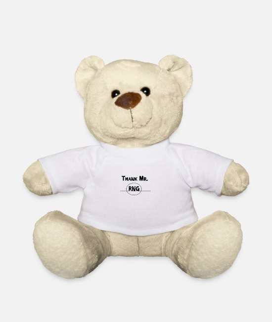 Play Teddy Bear Toys - Thank Mr RNG FPS Gamer Black - Teddy Bear white