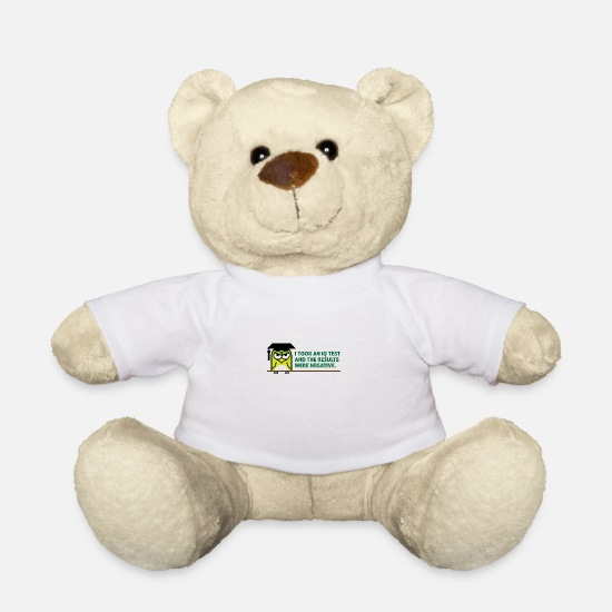 Student Teddy Bear Toys - I Took An IQ Test And The Results Were Negative! - Teddy Bear white
