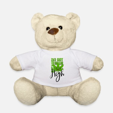 Kiffen Cannabisblatt Haschkottchen Fly Because I Got High - Teddybär