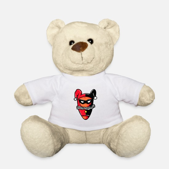 Evil Teddy Bear Toys - Joker Queen cartoon character - Teddy Bear white