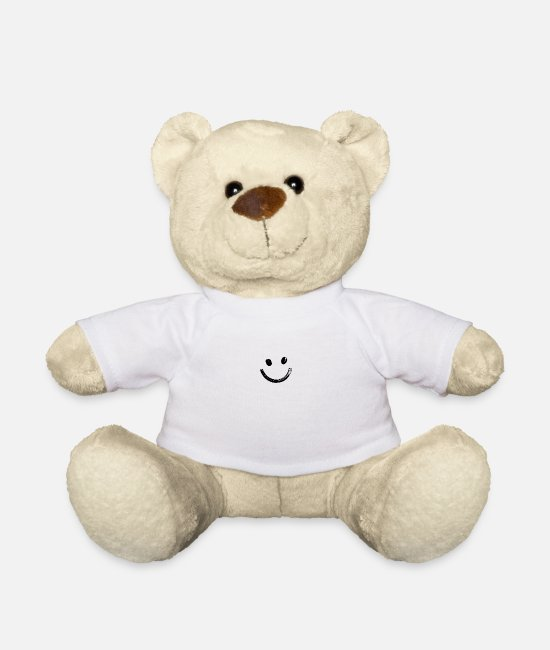 Artist Teddy Bear Toys - Smile - Teddy Bear white