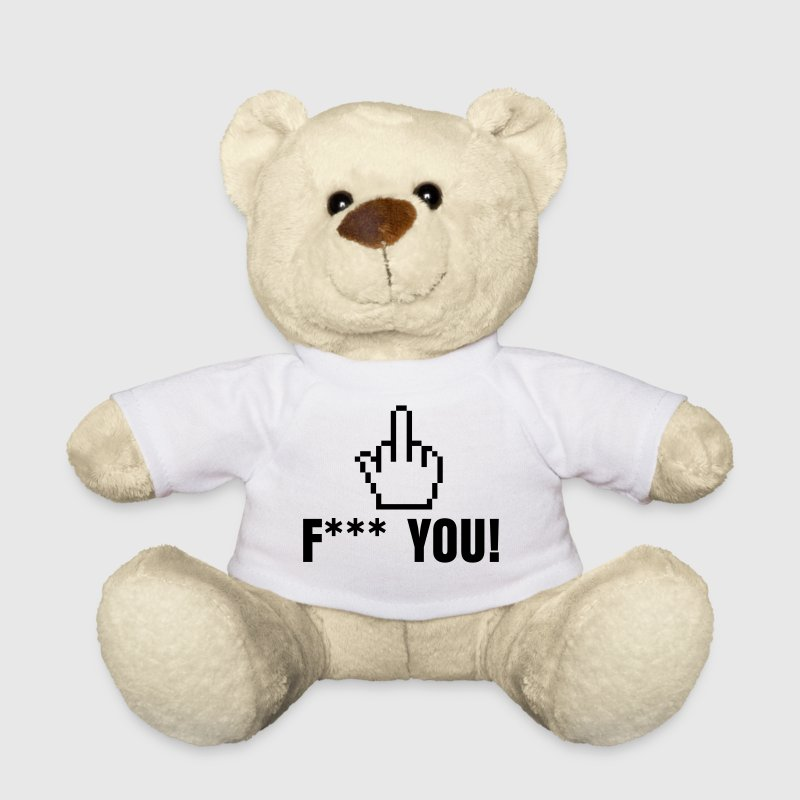 stinkefinger - fuck you - pointer hand fuck yourself - Teddy Bear