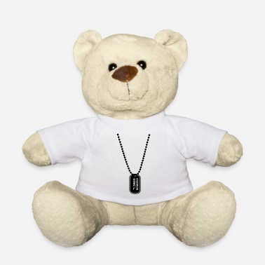dogtag necklace ketting - Teddybeer