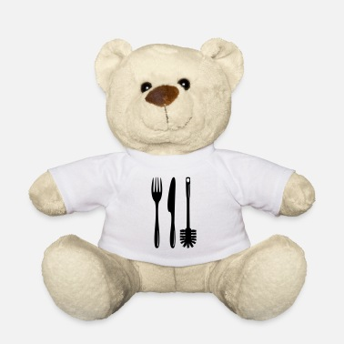 Toilet Brush Cutlery with a toilet brush - Teddy Bear